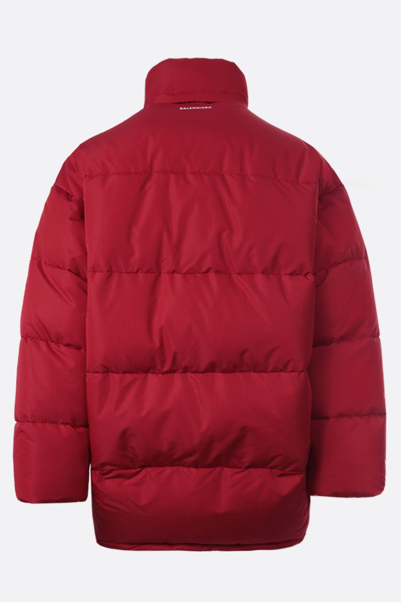 BALENCIAGA: ripstop nylon oversize padded jacket Color Red_2