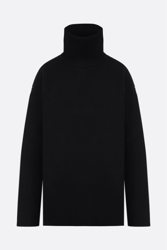 BALENCIAGA: oversized technical wool pullover Color Black_1