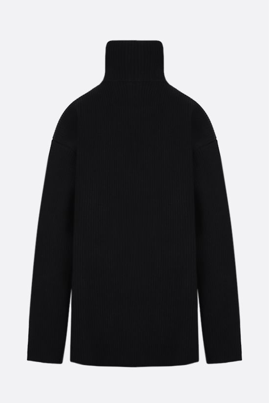 BALENCIAGA: oversized technical wool pullover Color Black_2