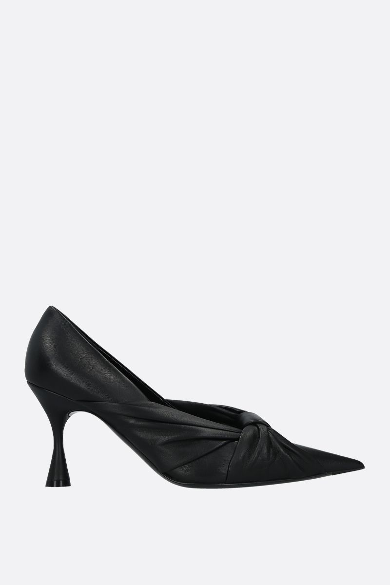 BALENCIAGA: Drapy soft nappa pumps Color Black_1