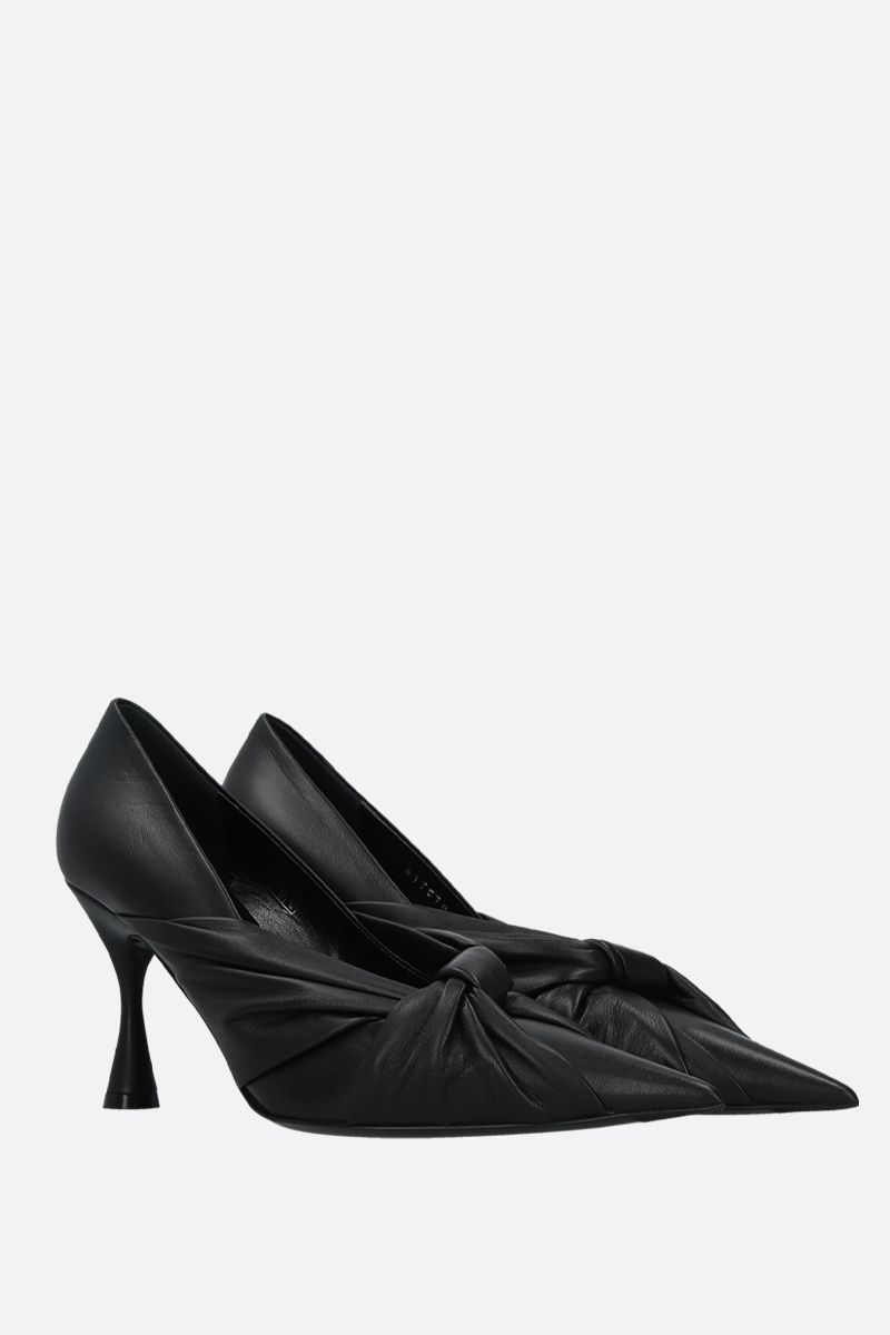 BALENCIAGA: Drapy soft nappa pumps Color Black_2