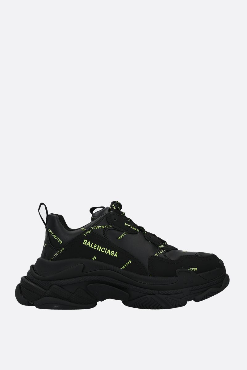 BALENCIAGA: Triple S faux leather sneakers_1