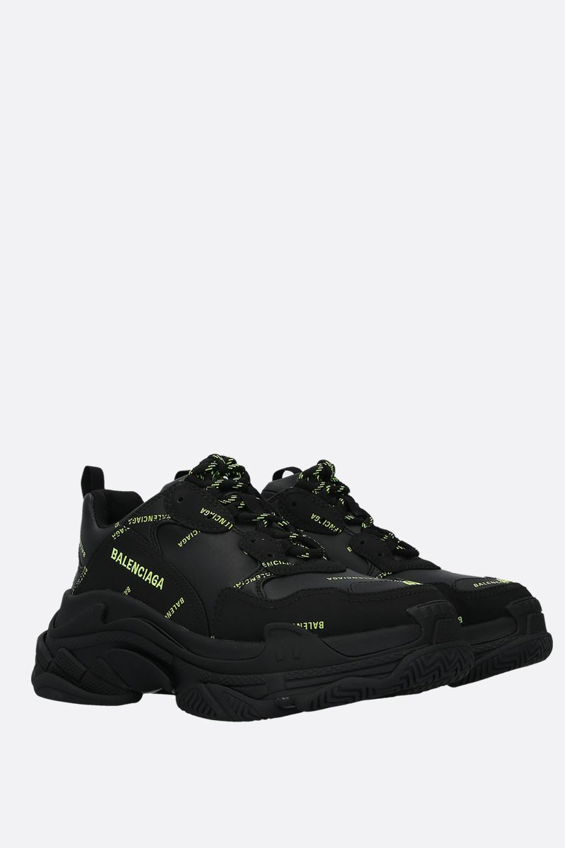 BALENCIAGA: Triple S faux leather sneakers_2