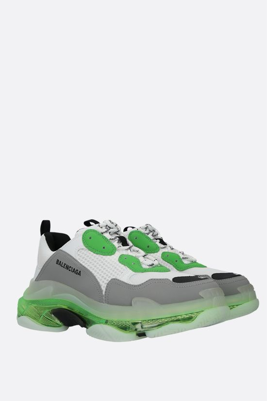 BALENCIAGA: Triple S faux leather and mesh trainers_2