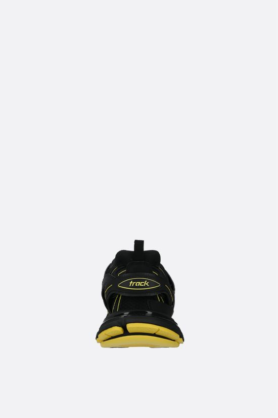 BALENCIAGA: Track faux leather and mesh sneakers Color Black_4