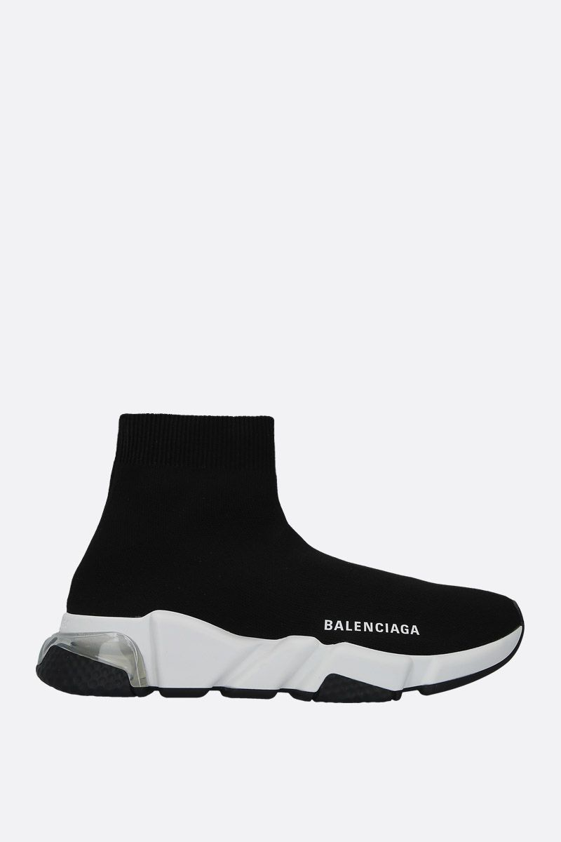 BALENCIAGA: Speed stretch knit trainers Color Black_1