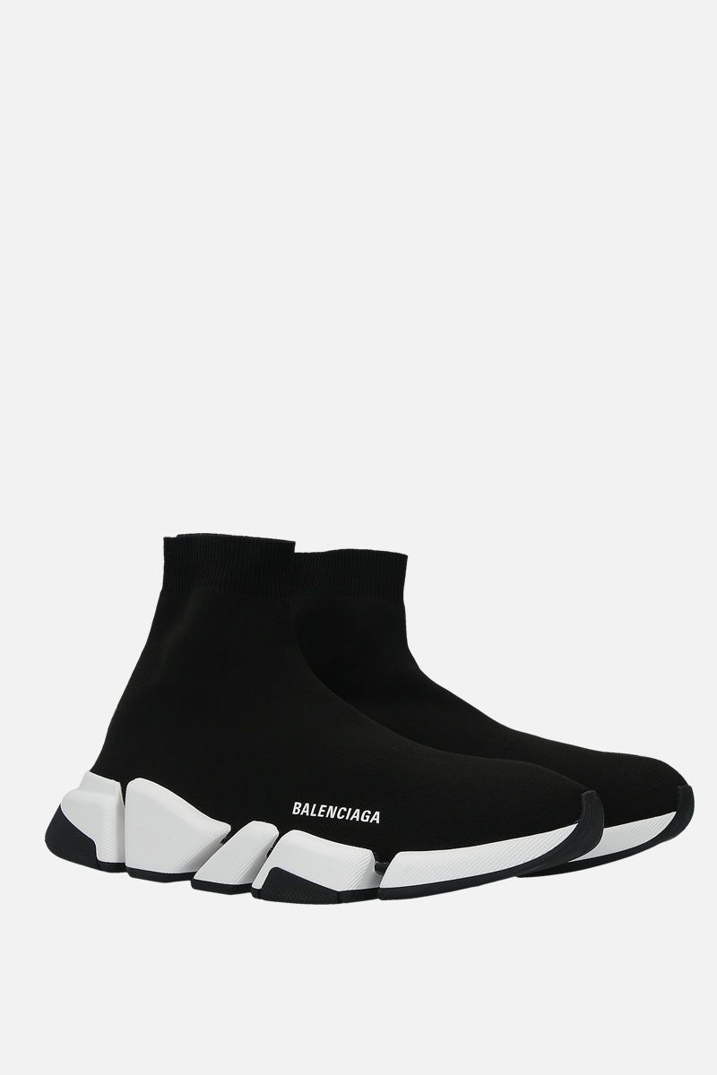 BALENCIAGA: Speed 2.0 stretch knit trainers Color Black_2