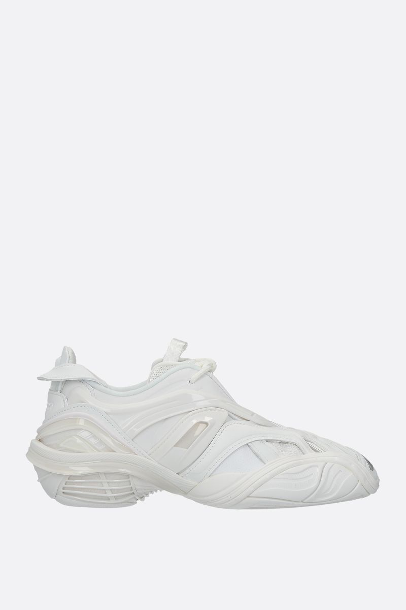 BALENCIAGA: Tyrex sneakers in a mix of materials Color White_1