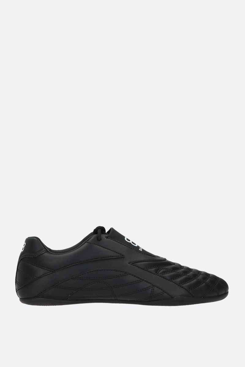 BALENCIAGA: Zen quilted faux leather sneakers Color Black_1