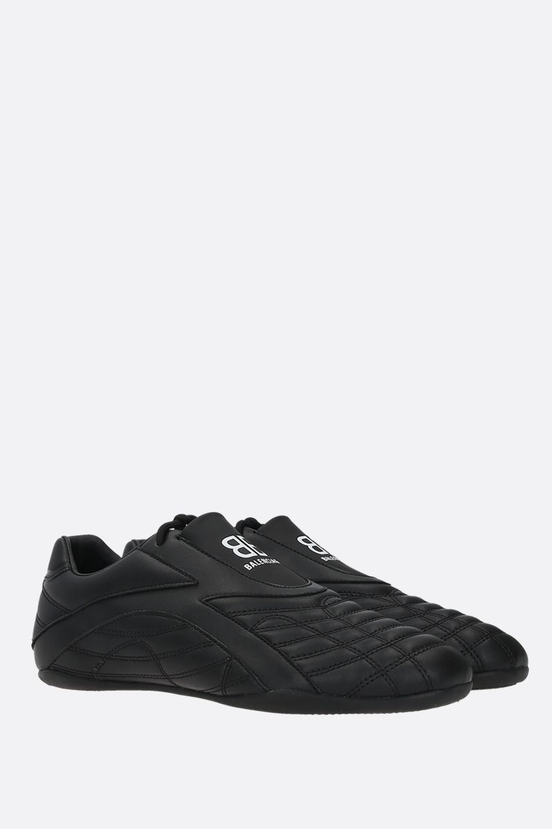 BALENCIAGA: Zen quilted faux leather sneakers Color Black_2