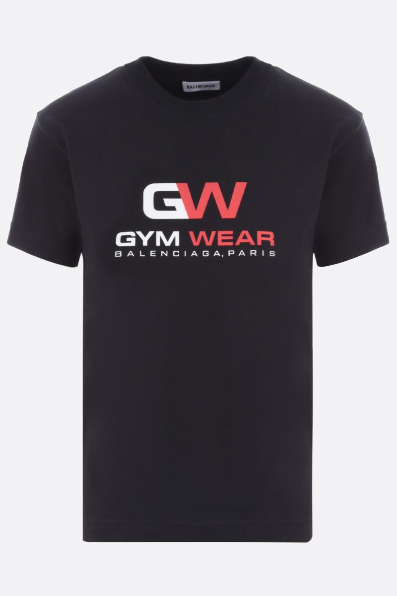 BALENCIAGA: Gym Wear cotton t-shirt Color Black_1