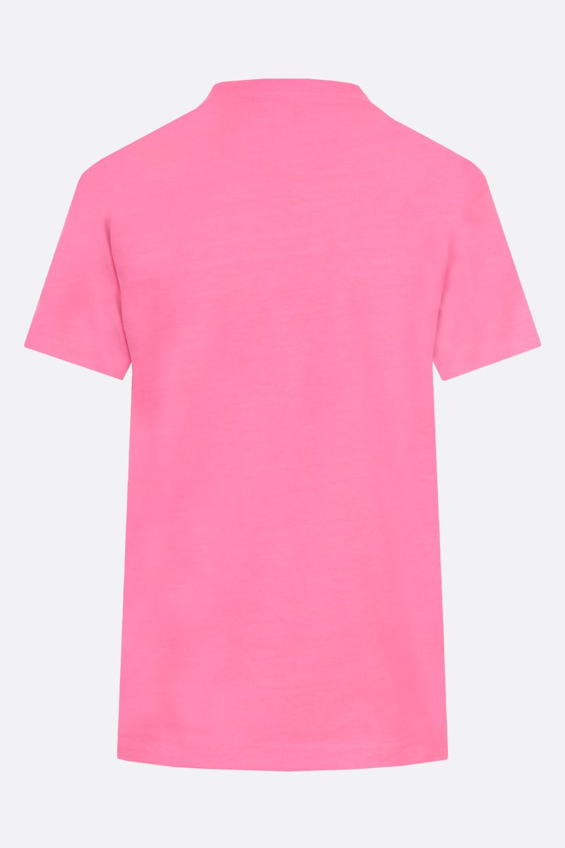 BALENCIAGA: balenciaga embroidered cotton t-shirt Color Multicolor_2
