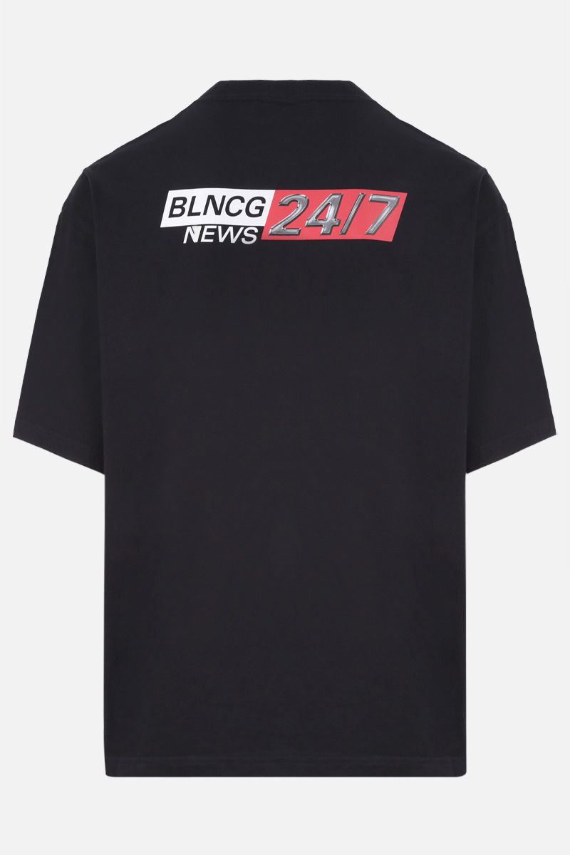 BALENCIAGA: BLNCG News print cotton t-shirt Color Multicolor_2
