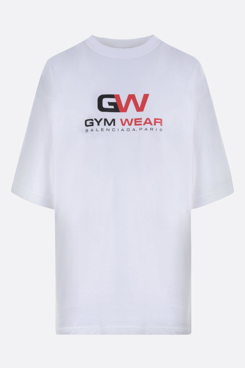 BALENCIAGA: Gym Wear cotton oversize t-shirt Color White_1