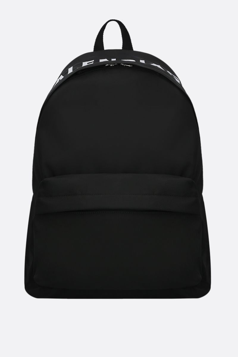 BALENCIAGA: Wheel nylon backpack Color Black_1