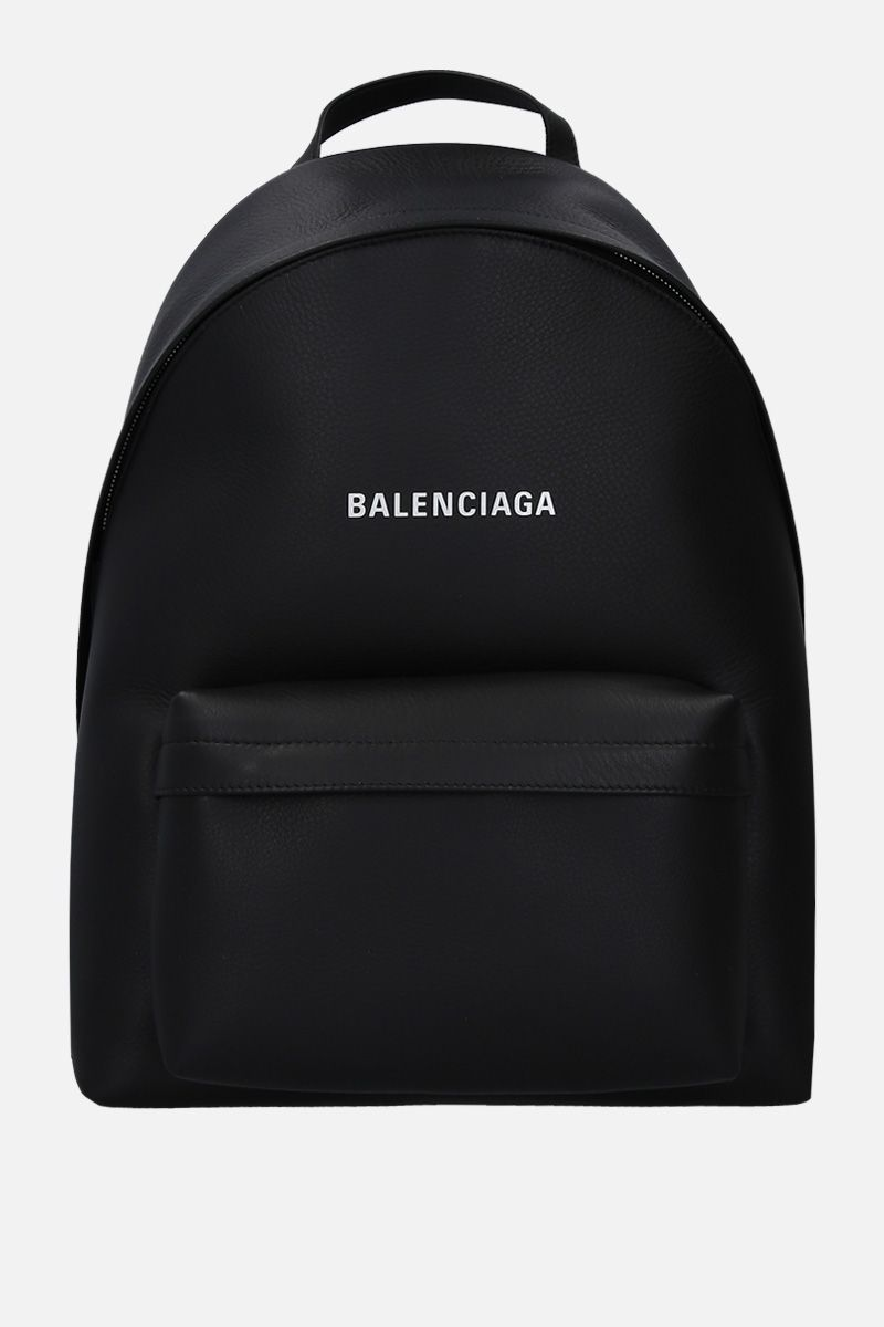 BALENCIAGA: Everyday L grainy leather backpack Color Black_1