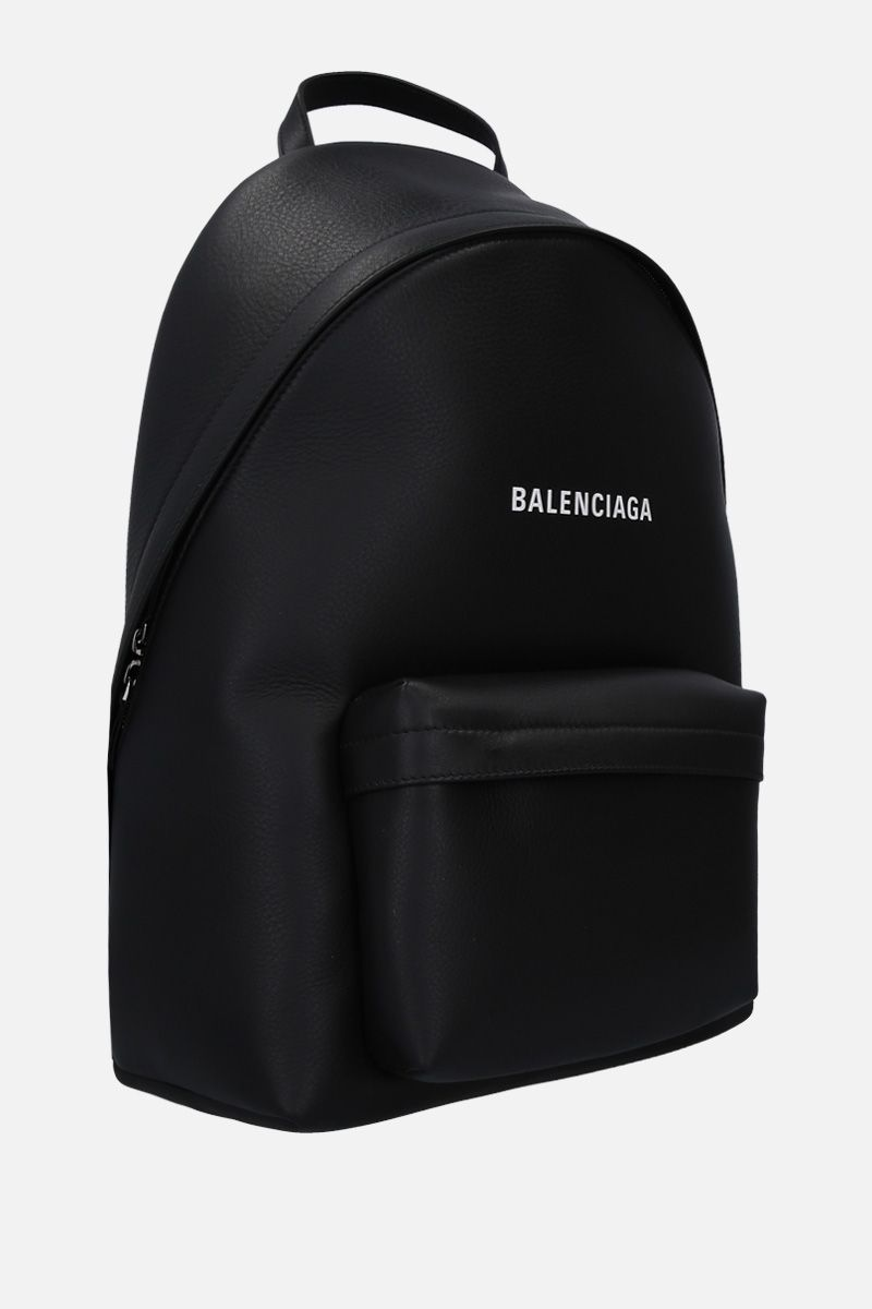 BALENCIAGA: Everyday L grainy leather backpack Color Black_2
