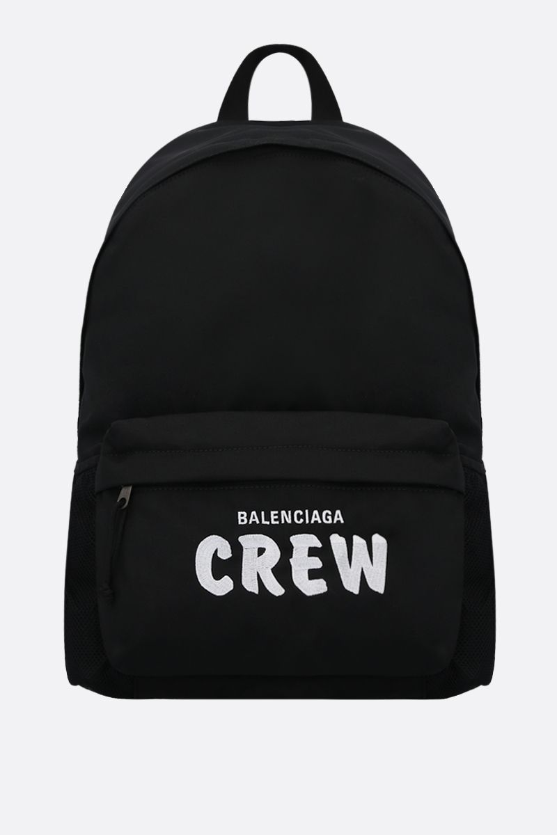 BALENCIAGA: Crew nylon backpack Color Black_1