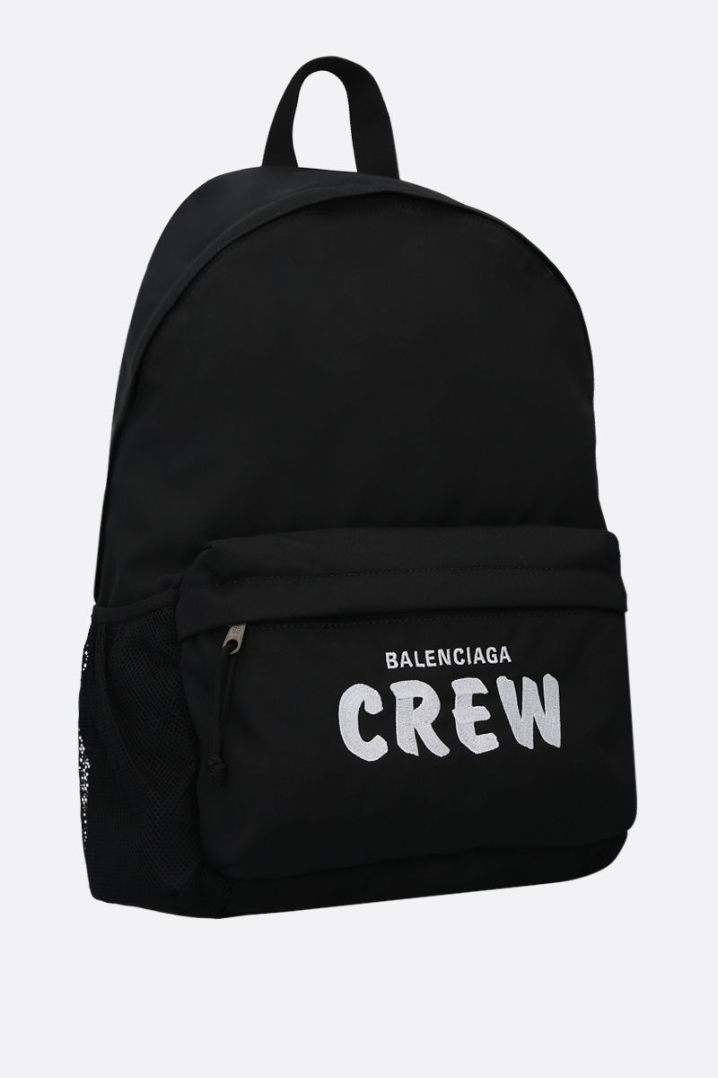 BALENCIAGA: Crew nylon backpack Color Black_2