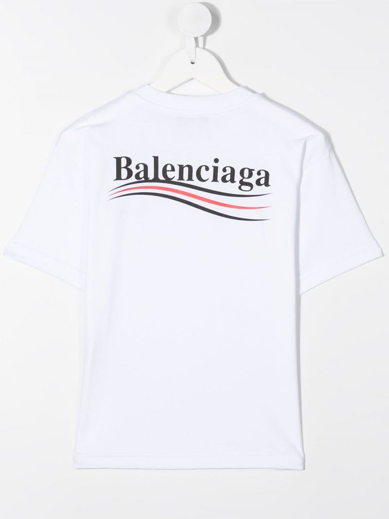 BALENCIAGA KIDS: Balenciaga print cotton t-shirt Color Black_2