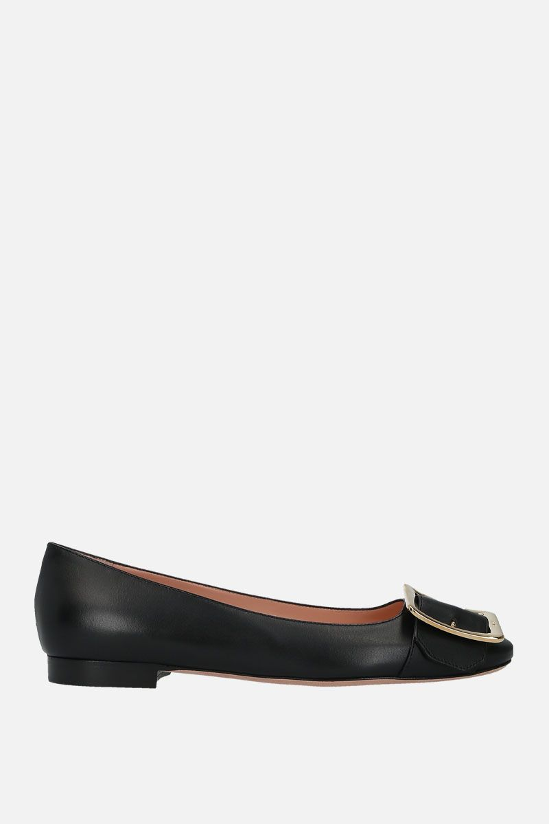 BALLY: Jackie smooth leather ballerinas Color Black_1