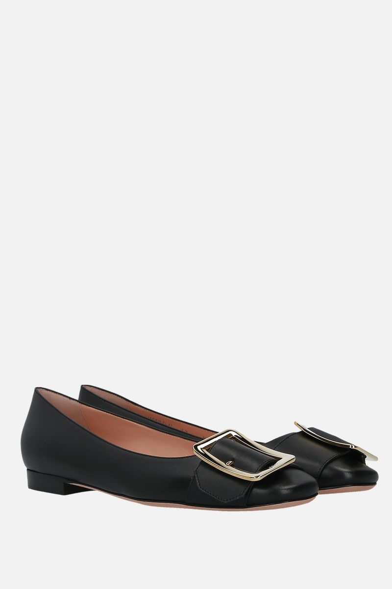 BALLY: Jackie smooth leather ballerinas Color Black_2