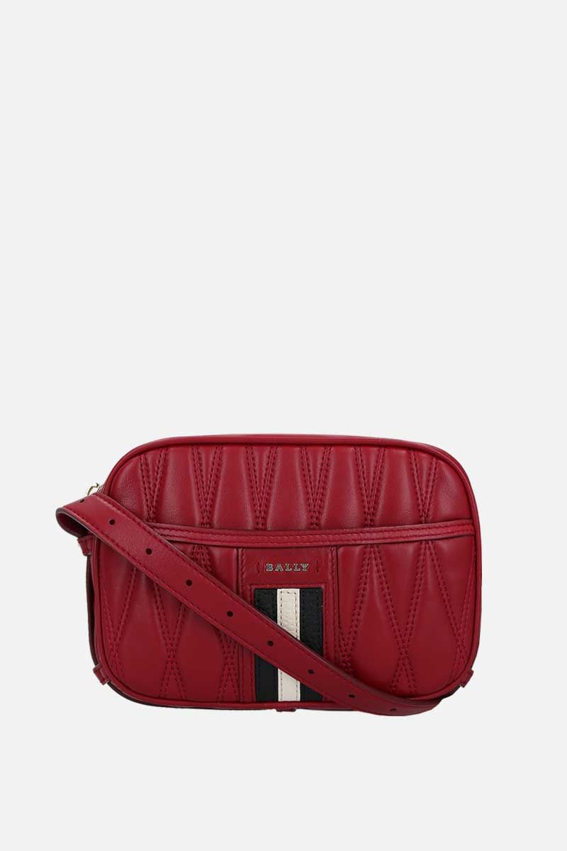 BALLY: quilted nappa camera bag Color Red_1