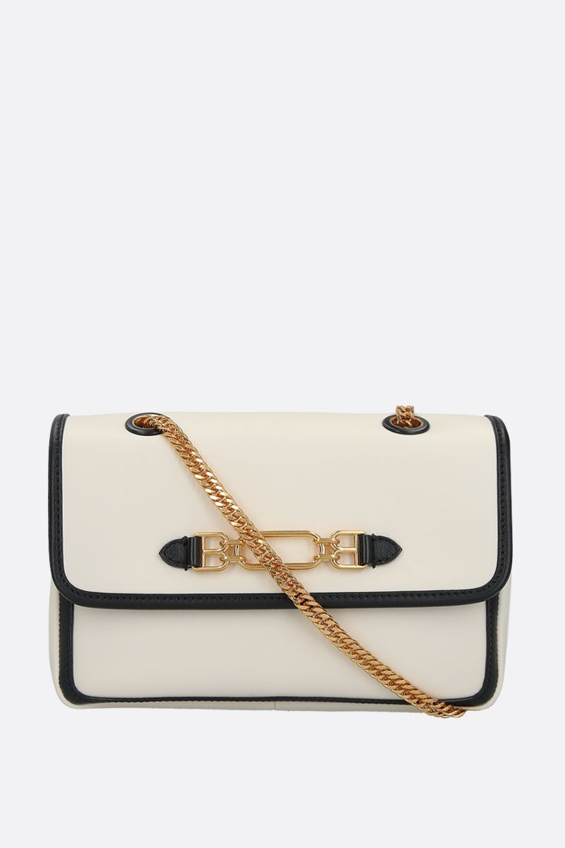 BALLY: Viva small smooth leather shoulder bag Color Neutral_1