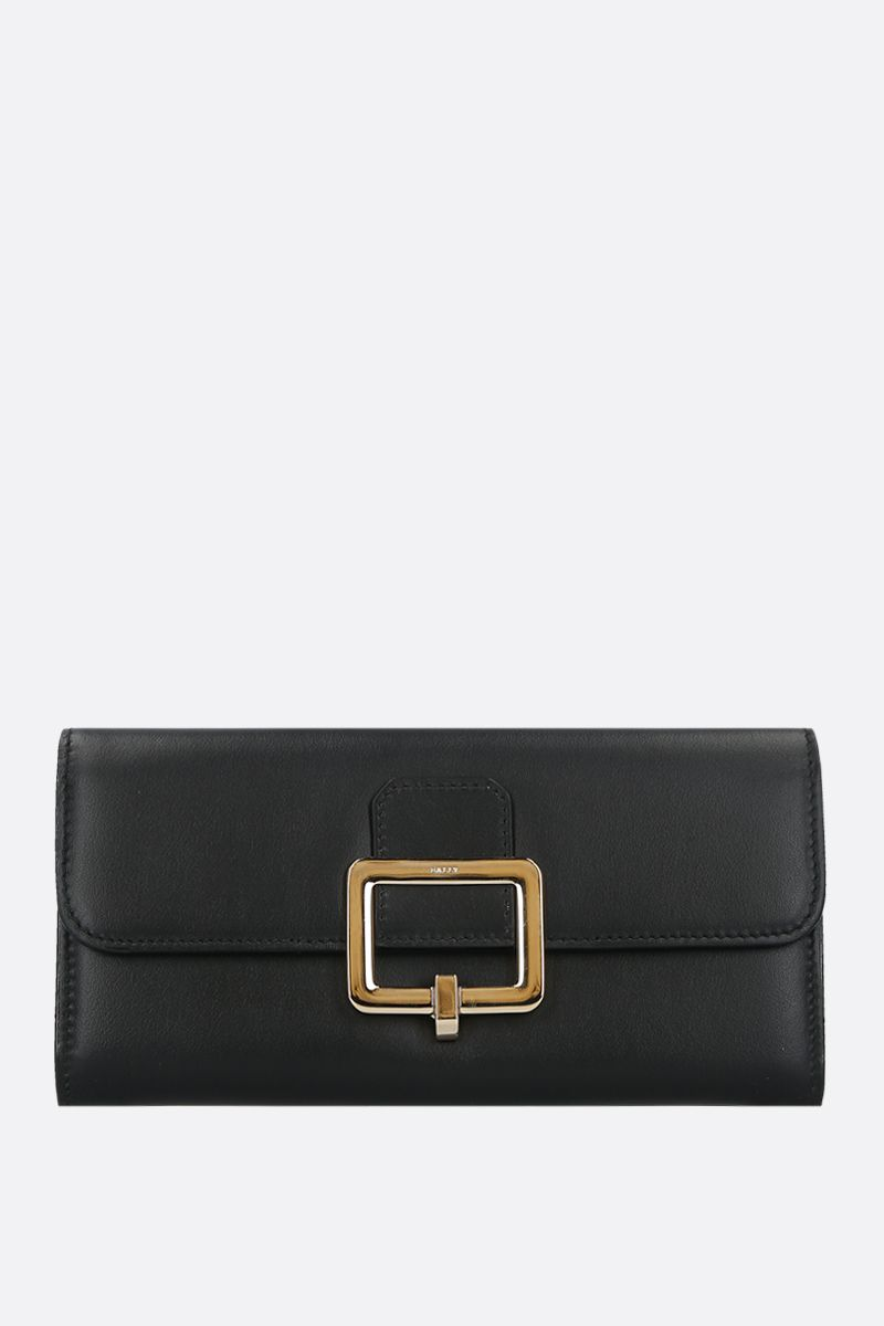 BALLY: Jinney smooth leather continental wallet Color Black_1