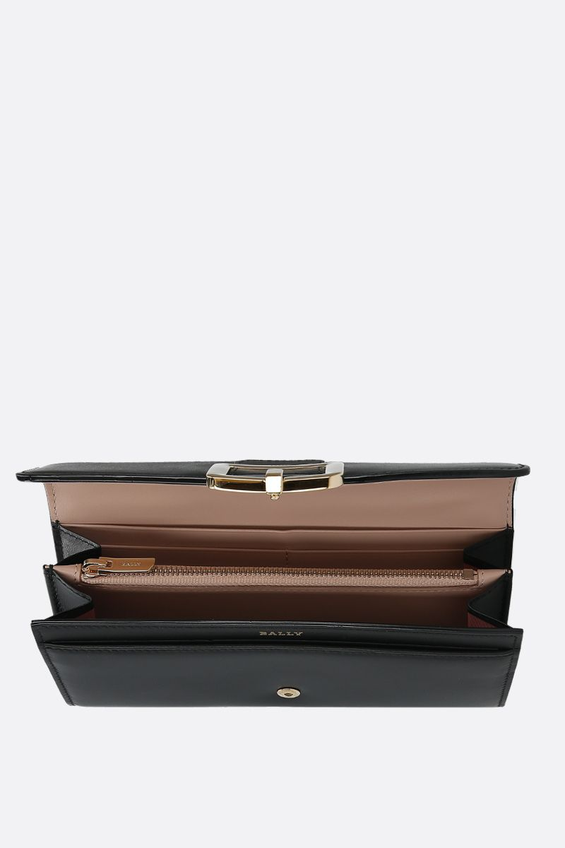 BALLY: Jinney smooth leather continental wallet Color Black_2