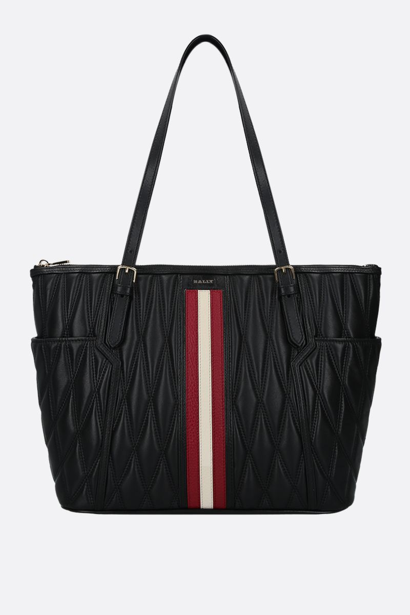 BALLY: Damirah quilted nappa tote Color Black_1