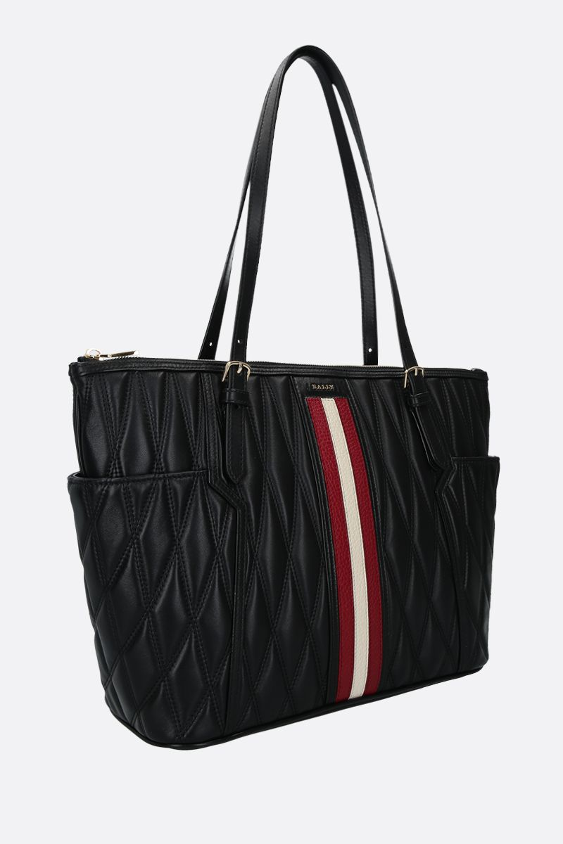BALLY: Damirah quilted nappa tote Color Black_2