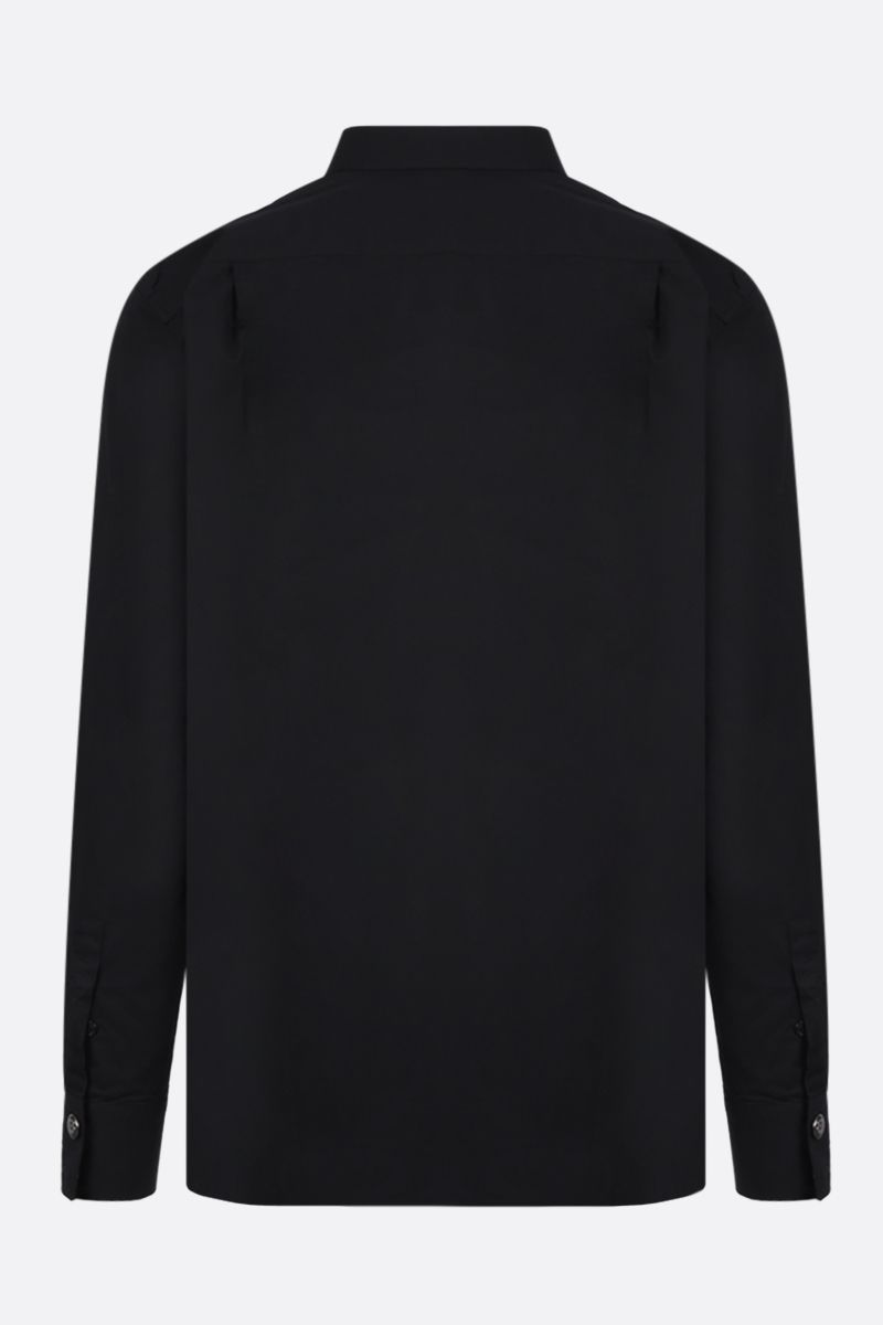BALMAIN: sparkling bib-detailed cotton shirt Color Black_2