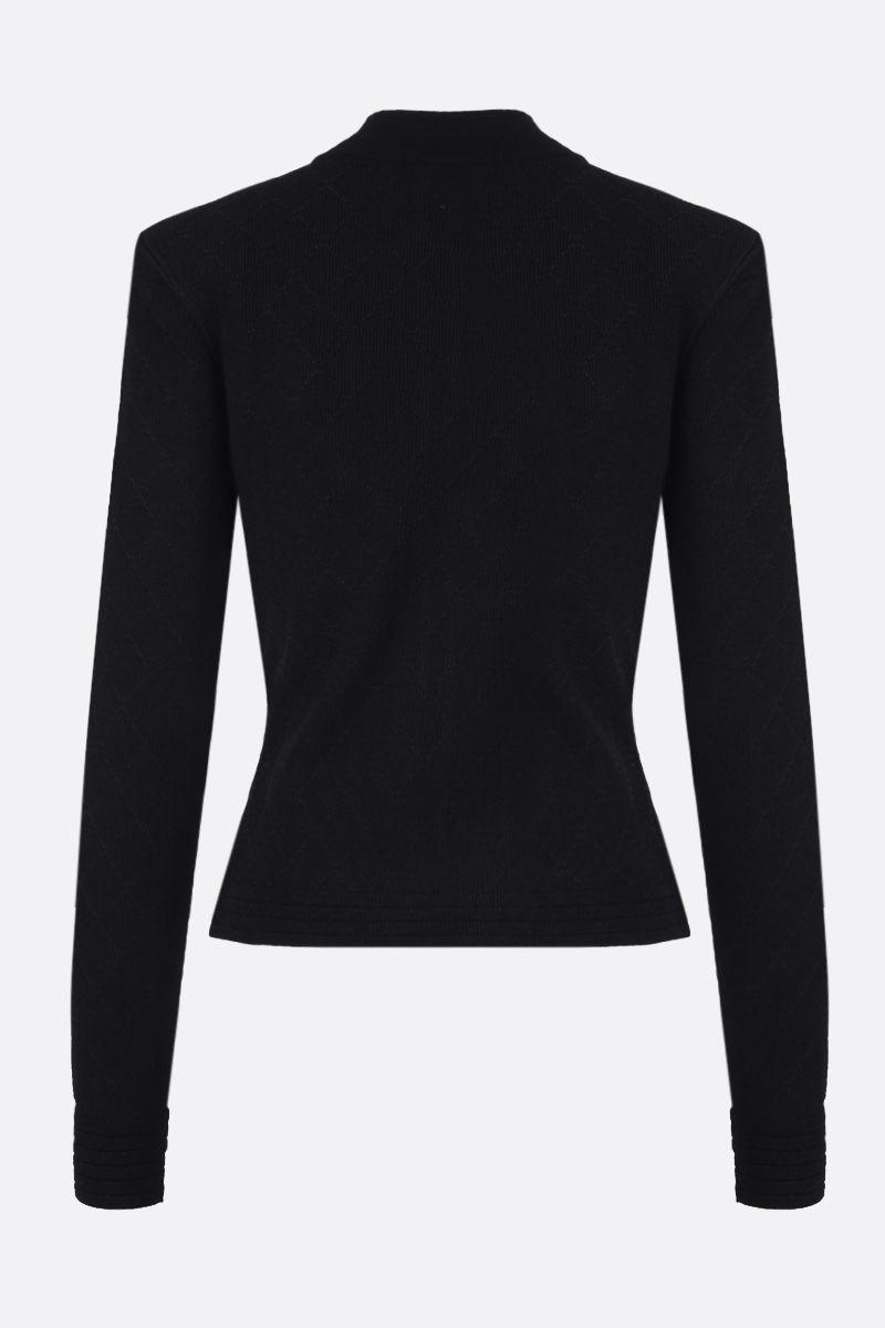 BALMAIN: stretch knit full-zip jacket Color Black_2