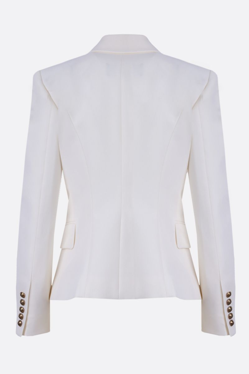BALMAIN: wool double-breasted jacket Color White_2