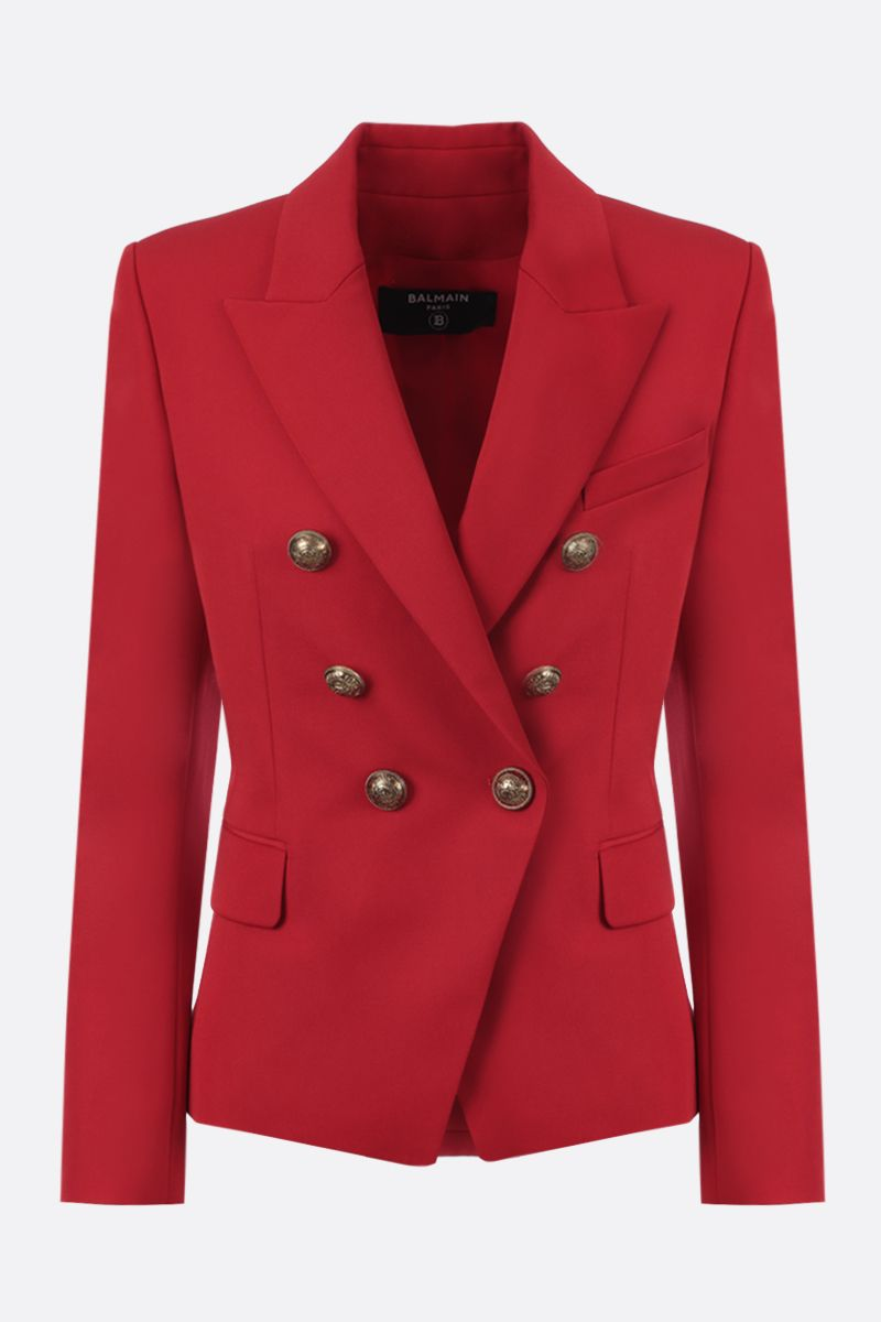 BALMAIN: wool double-breasted jacket Color Red_1