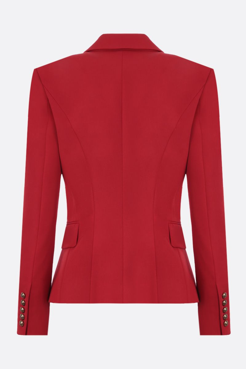 BALMAIN: wool double-breasted jacket Color Red_2