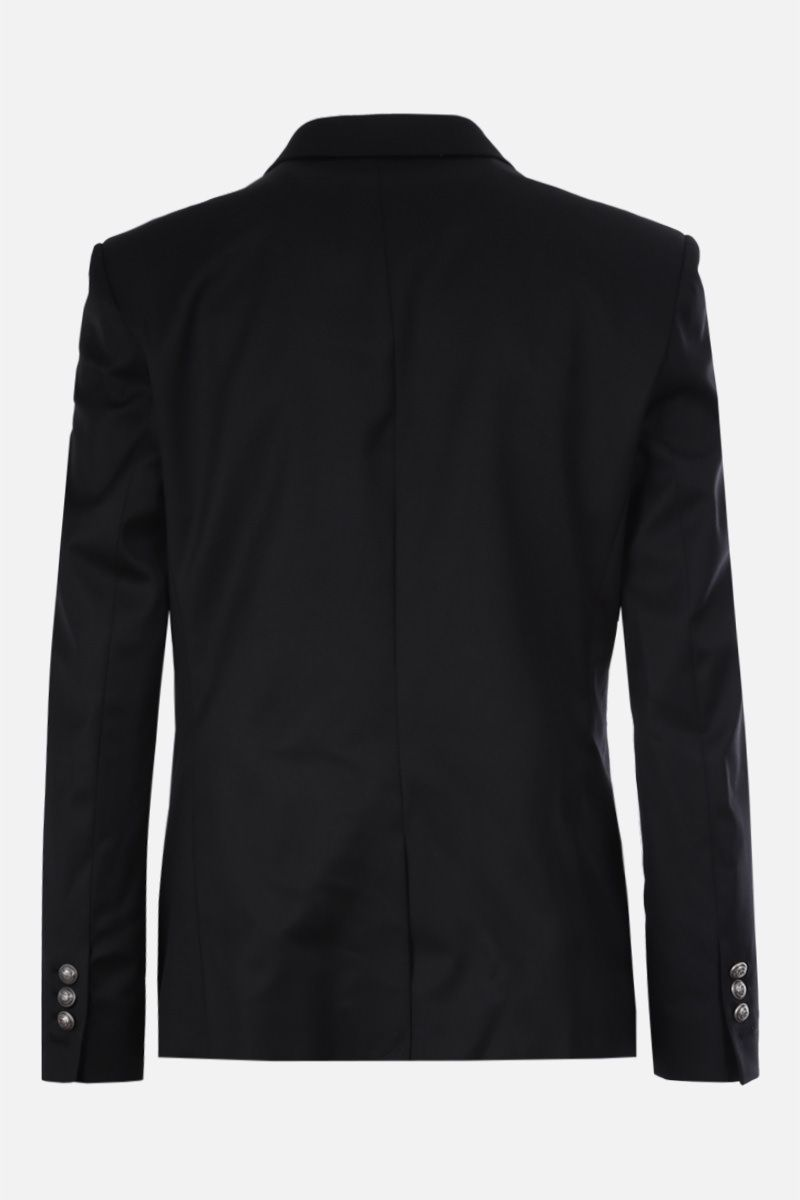 BALMAIN: wool double-breasted jacket Color Black_2