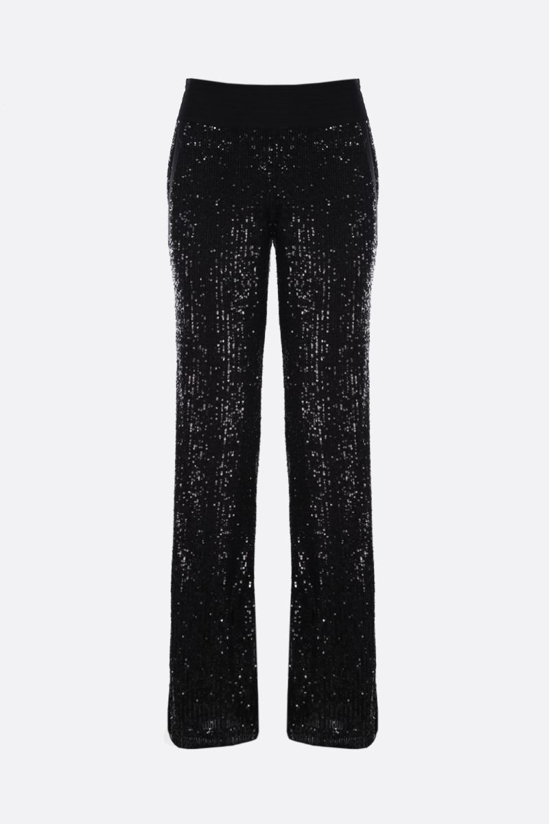 BALMAIN: sequinned straight-fit pants Color Black_1