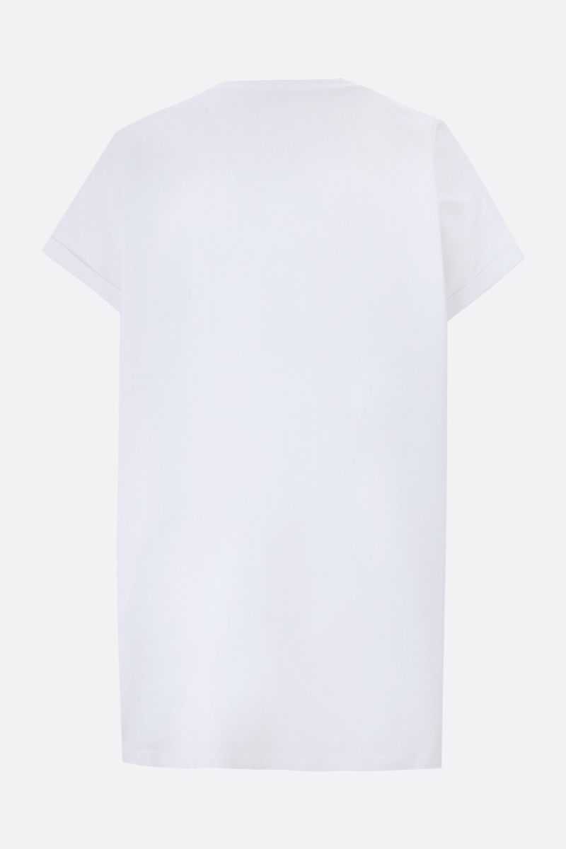BALMAIN: Balmain Paris 1945 print cotton t-shirt Color White_2