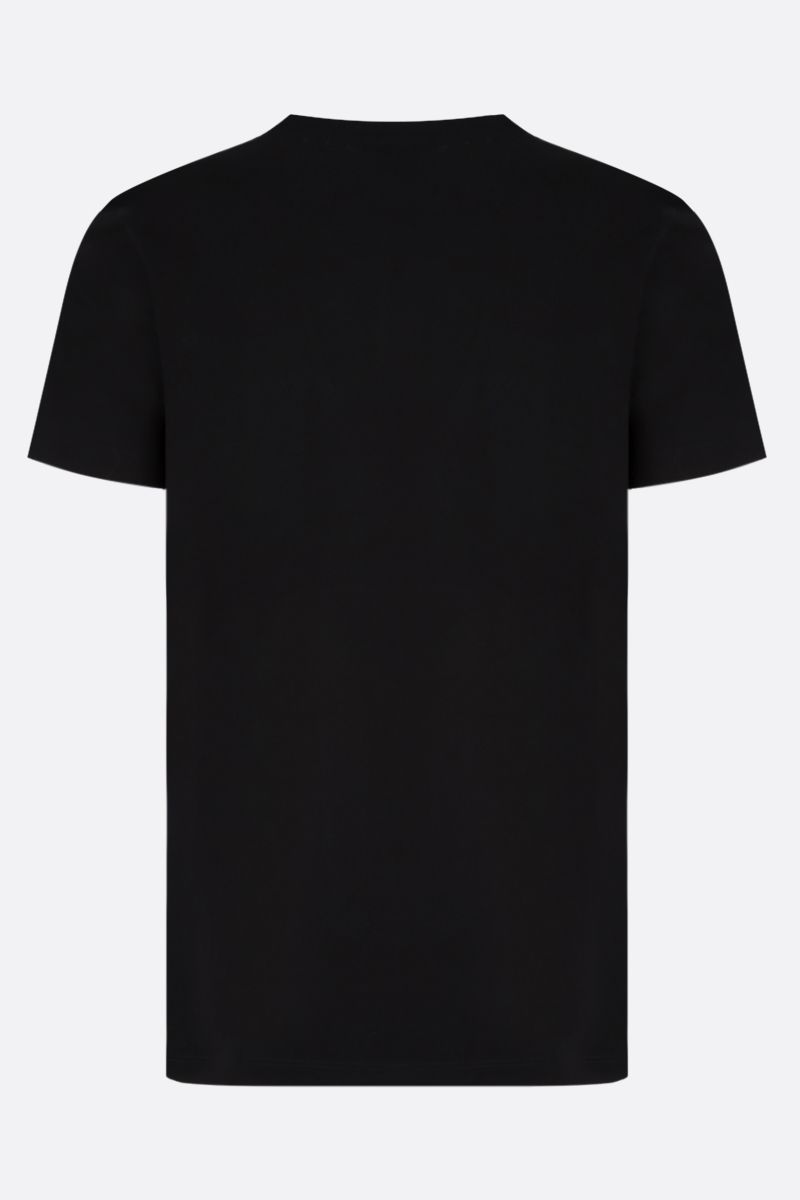 BALMAIN: graphic print cotton t-shirt Color Multicolor_2