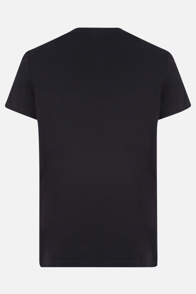 BALMAIN: Balmain logo print cotton t-shirt Color Multicolor_2