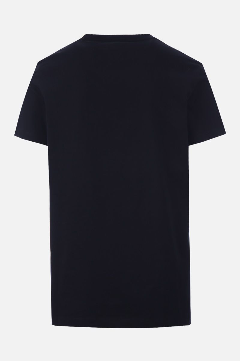 BALMAIN: Balmain logo print cotton t-shirt Color Black_2