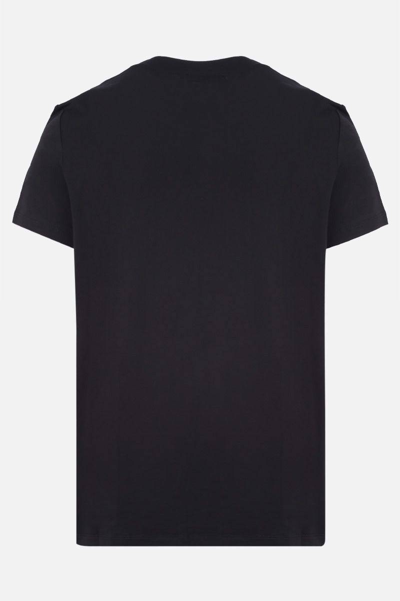 BALMAIN: 3D-effect Balmain logo print cotton t-shirt Color Black_2