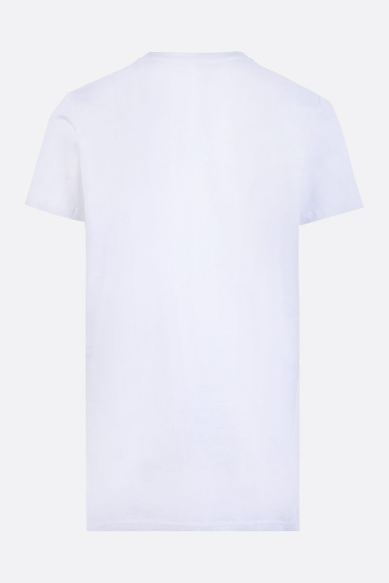 BALMAIN: Balmain logo print cotton t-shirt Color White_2