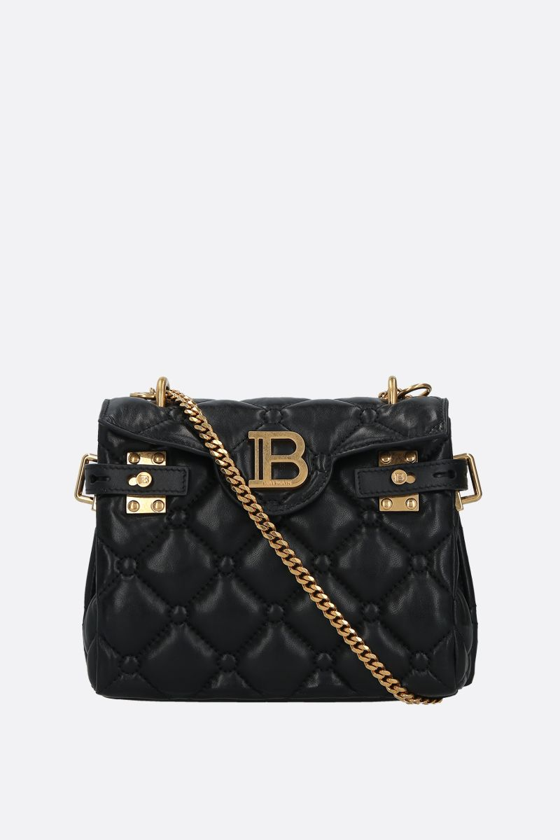 BALMAIN: B-BUZZ 18 quilted nappa backpack Color Black_1