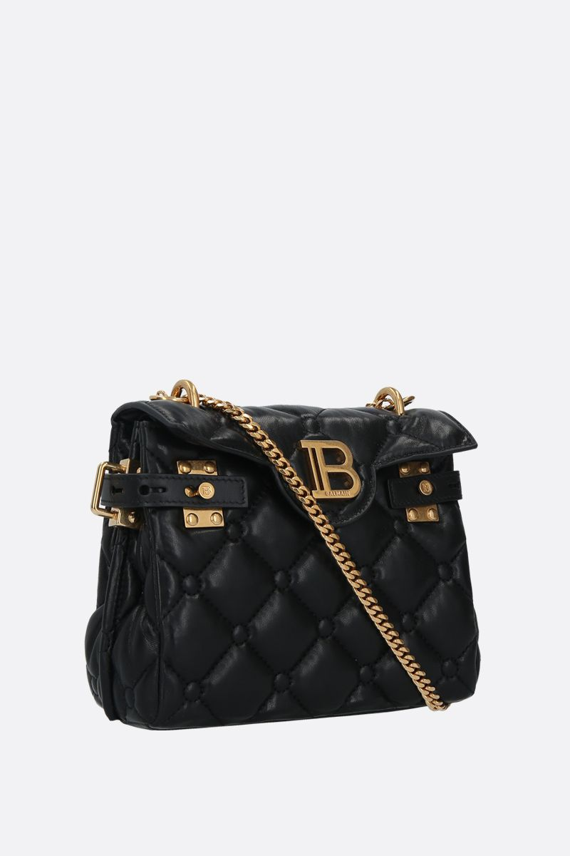 BALMAIN: B-BUZZ 18 quilted nappa backpack Color Black_2