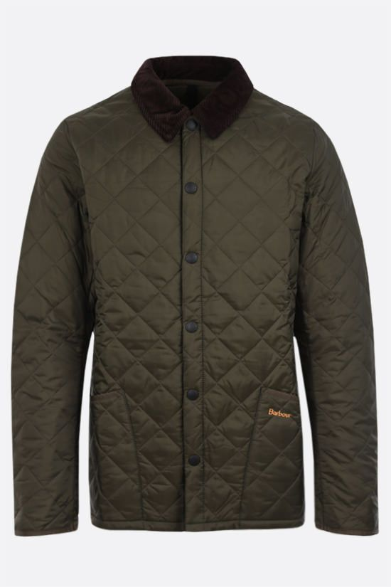BARBOUR: Powell quilted nylon jacket Color Green_1