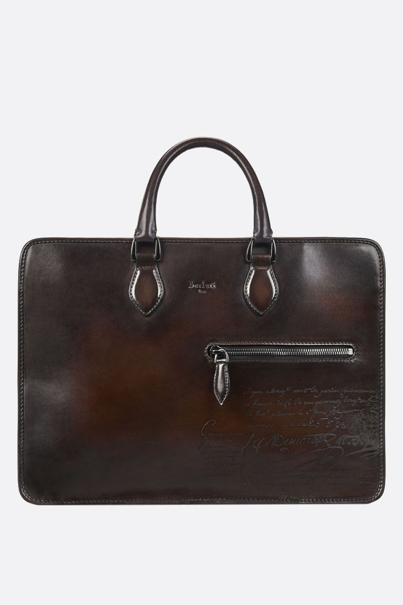 BERLUTI: Scritto leather business bag_1
