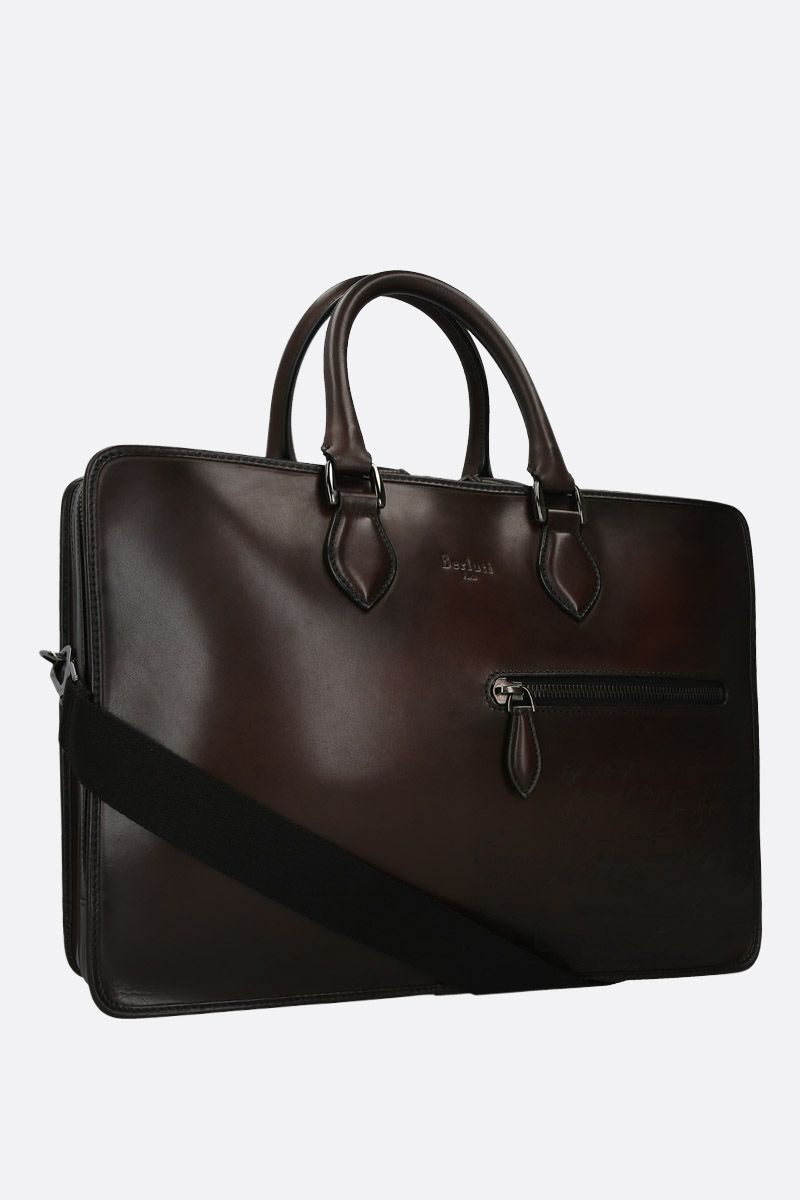 BERLUTI: Scritto leather business bag_2